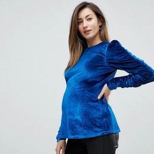 Brand New with tags Blue Velvet Maternity Shirt